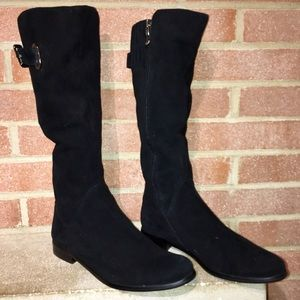 Strimma Woman's Black suede size 7.5/38 boots NEW!